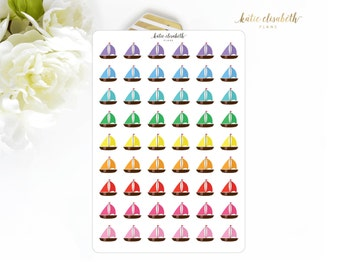 Sail Boats || Planner Stickers I-022