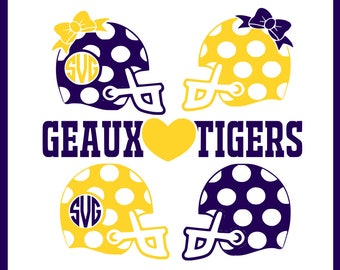 Love dem tigers svg file, football svg, tail gating svg, LSU svg, cameo svg, cameo dxf, silhouette studio file, cricut design space svg