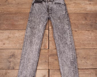 """Mens Vintage Levis 501 Red Tab 1990s Grey Striped Jeans USA 33"""" x 30"""" R7017"""