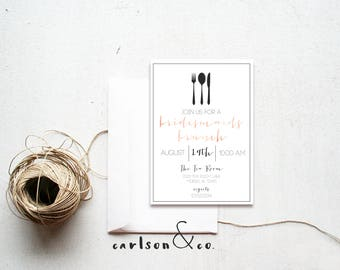 Bridesmaid Brunch Invitation | Bridal Invite | Rehearsal Dinner Invite