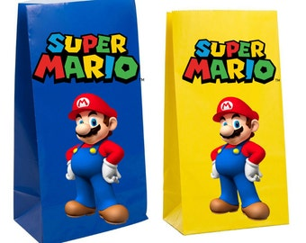 Super Mario Party Favor gift Bags ~ super mario Birthday Party Inspired Decorations & Decor