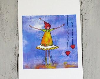 "giclée print ""ballerina"""