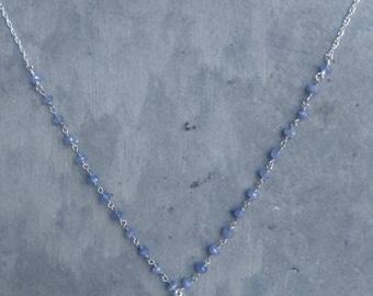 Tahitian Pearl and Tanzanite Necklace
