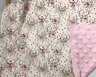 Minky baby lovey, Security blanket, Minky baby blanket, Comfort blanket, Lovey, Baby gift, Baby shower, Baby lovey, Deer Stella