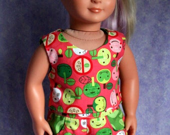 18 Inch Doll Clothing Reversible Popsicle Top and Shorts Matching Pockets
