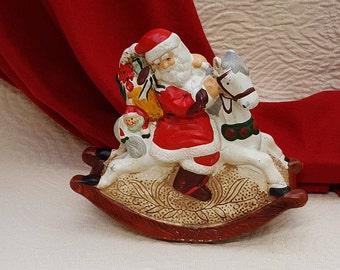 Music Box Santa Rocking Horse