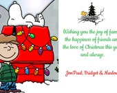 Peanuts Christmas Cards, Charlie Brown, Snoopy Christmas Cards, Christmas Snoopy