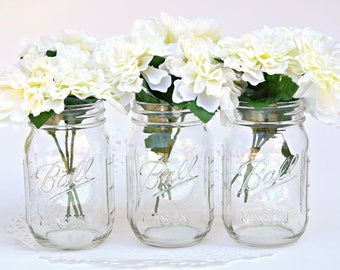 Flowers, Faux Flowers, Fabric Flowers, White Flowers