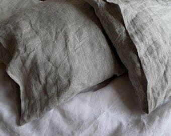 LINEN PILLOWCASE soft linen pillow cover gray pillowcase white pillowcase linen pillow case Standard Queen pillowcase King linen bedding