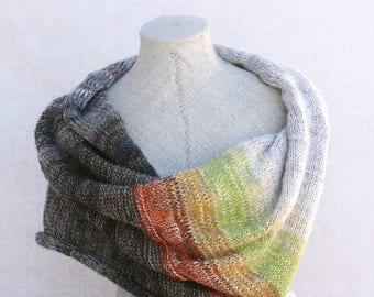 Cozy bohemian shoulder warmer / Christmas knit gift / Nursing mother wrap / Convertible infinity wrap scarf / Mohair capelet - Snow Apple 3