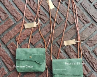 Leather Bag Small / Party-Bag _ Green