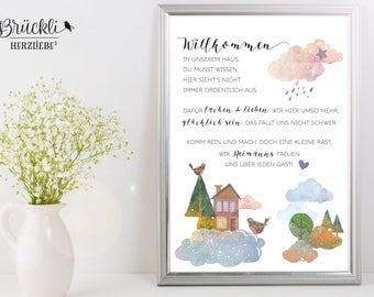 A4 print / mural / poster family rules, House rules