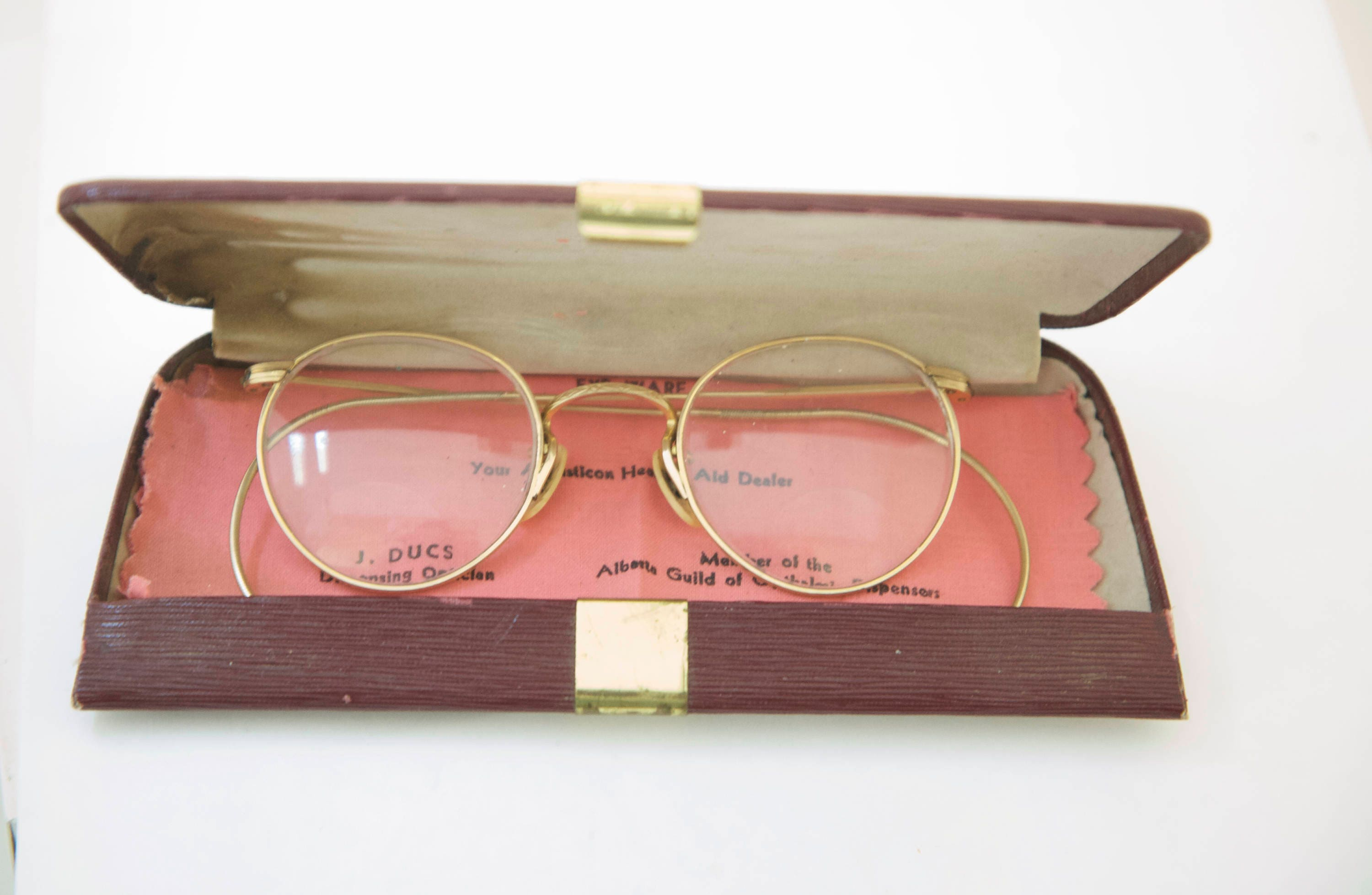 Art Craft Optical Antique Optical Frames Gold Filled With Case