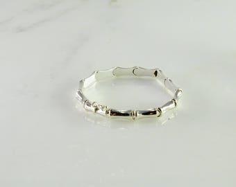 """Bamboo Link Sterling Bracelet 7 1/8"""""""