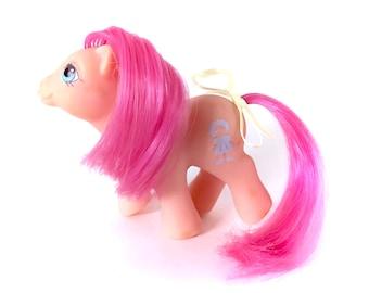 G1 My Little Pony Baby Sweet Stuff Vintage Peek A Boo Original G1 1987 MLP Swivel Head Ponies 80s Toy Hasbro Beautiful Peach Pink Doll 1980s