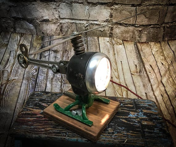 Salvaged Helicopter Table Lamp
