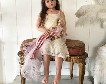 "Reborn Toddler baby Girl Angelica by Reva Schick Brown Eyes Doll 43"""