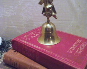 Brass Angel Bell - Brass Bell, Vintage Bell, Brass Angel, Angel Bell, Vintage Angel, Collectible Brass