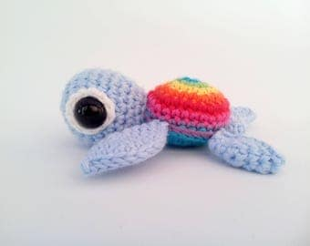 Crochet Sea Turtle Rainbow Sealife Amigurumi
