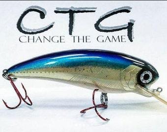 handmade wooden  lure/Lure/handmade fishing lure/crankbait/wooden lure/fishing lure/fishing/outdoors/customlure/CTG_ChangetheGame