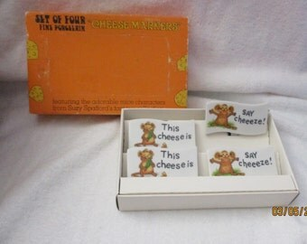 Vintage Suzy Spafford Cheese markers By Enesco