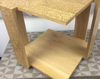 Art Infused, Custom Mid-Century Modern Furniture Burke Side Table