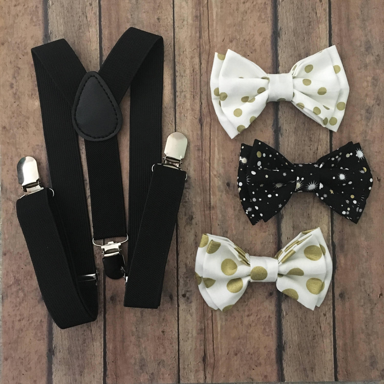 bowtie suspender set gold bow ties gold bowtie