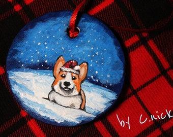 Pembroke Welsh Corgi Christmas Ornament