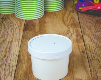 8 oz To Go Containers and Lids With Vent Holes
