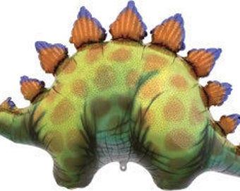 "STEGOSAURUS Dinosaur Balloon 46"" Foil Mylar Dino Jurassic Park Birthday Party Supplies Decoration Photo Prop"