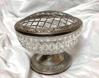Stunning, Vintage Bleicristall and silver plate large vase