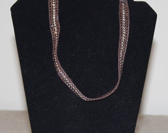 Brown and Silver Headband