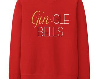 Image result for Gin gle bells christmas jumper