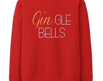 Image result for Gin gle bells christmas jumper