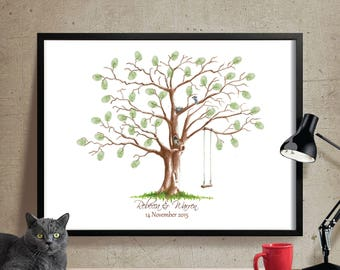 Wedding Guestbook fingerprint tree, Custom  Wedding guestbook, Fingerprint tree, Wedding keepsake