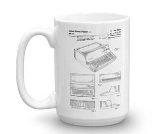 Apple Computer Patent Mug 1983 - Apple Patent, Old Patent Mug, Vintage Computer, Geek Gift, Computer Mug, Steve Jobs Patent, Apple Mug
