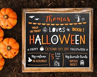 Halloween sign, Halloween chalkboard sign for kids, Chalkboard halloween Sign, Printable Halloween sign, Personalized Halloween chalkboard