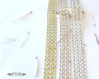 Rhinestone Choker, Rhinestone Style Choker, Faux Diamond Choker, Sparkle Choker, Silver, Gold, Champagne, Sterling Silver