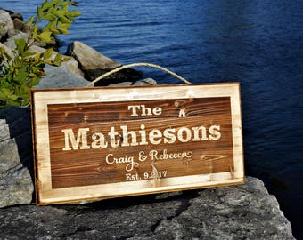 Custom Wood Sign / Personalized Name Sign / Last Name sign / Rustic Wood Sign / Outdoor Sign / 3D Wood Sign / Rustic Family Name & Est Sign