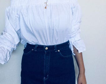90s denim aline skirt