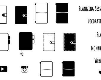 OLD DESIGN! Planner Lover -- Clear Stamps Set A7