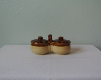 Two Toned, Boho Double Sugar/Condiment Holder
