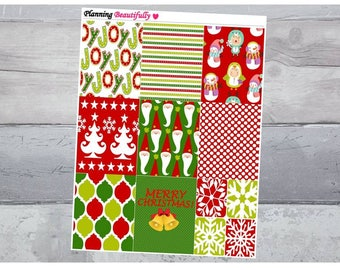 Christmas Stickers, Christmas Decorations, Christmas Planner Stickers, Erin Condren Planner Stickers, Eclp Stickers, Erin Condren Stickers