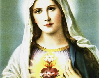 Catholic Art Print Picture Immaculate Heart of Mary