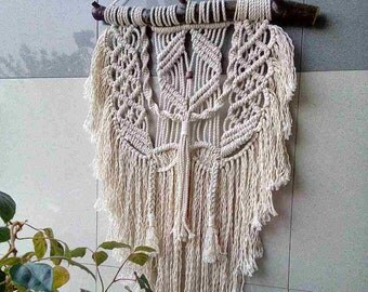 "Macrame"" Welfare""/Macrame  Wall Hanging/ Tapestry Woven / Bohemian Wall /Tapestry Boho/ Art Macrame Hanging /5 mm 100% cotton cord"