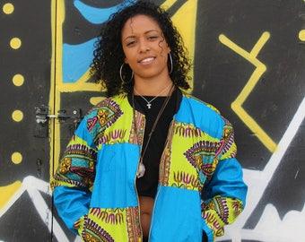 African Bomber Jacket - Dashiki Bomber - African Jacket - Dashiki Bomber jacket - African Clothing - Festival Clothing - Festival Jacket