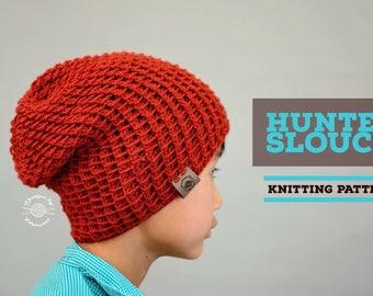 Knit Hunter Slouch Beanie PATTERN | Knit Pattern | Slouch Hat | Knit Beanie | Knit Hat | Instant Download