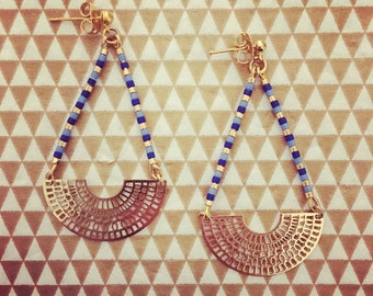 Miyuki beads and Aztec earrings