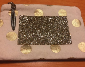 Gold glitz and bead bag