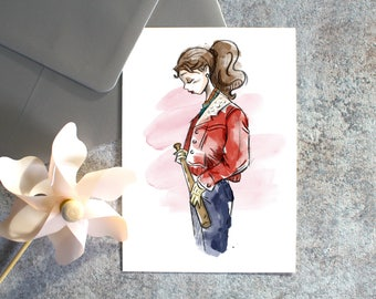 Postcard-Nancy - Stranger Things card